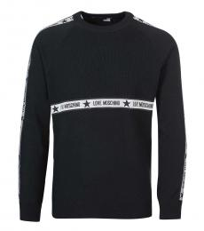 Love Moschino Black Centre Logo Sweater
