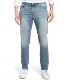 AG Adriano Goldschmied Blue Everett Slim Straight Jeans