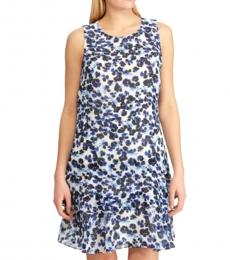 Ralph Lauren White Floral Daytime Party Dress