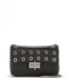 Black Jenny Grommet Mini Shoulder Bag