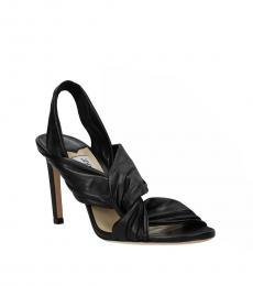Jimmy Choo Black Lalia Leather Heels