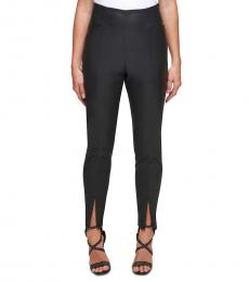 Black Faux-Leather Skinny Pants
