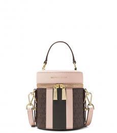 Michael Kors Dark Brown Bedford Mini Bucket Bag