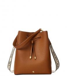 Ralph Lauren Light Brown Debby Medium Bucket Bag