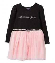 Calvin Klein Little Girls Black/Pink Sparkle Tutu Dress