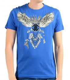 Bright Blue Graphic Print T-Shirt