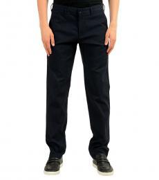 Hugo Boss Dark Blue Stretch Casual Pants