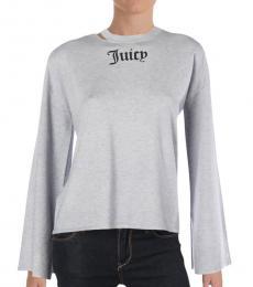 Juicy Couture Heather Cozy Logo Crew Neck Sweater