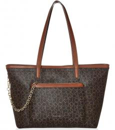 Brown/Luggage Beverly Signature Large Tote