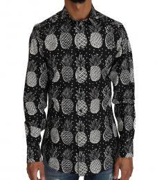 Dolce & Gabbana Black Gold Pineapple Print