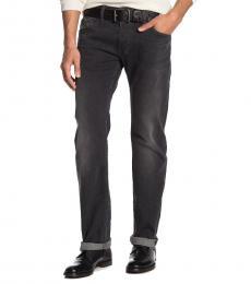 Black Denim Regular Slim Straight Fit Jeans