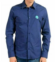 Blue Slim Long Sleeve Casual Shirt