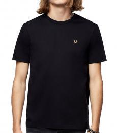 Black Logo Solid T-Shirt