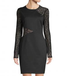 Black Jorden Lace-Detailed Dress
