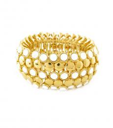 Gold Wide Stretch Bracelet