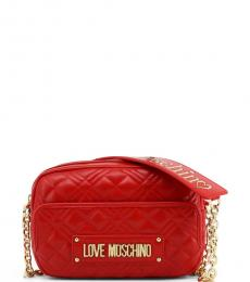 Love Moschino Red Front Pocket Small Crossbody