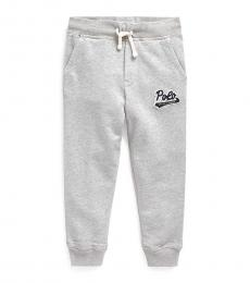 Little Boys Andover Heather Logo-Patch Pants
