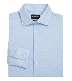 Blue Modern-Fit Dress Shirt