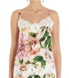 Dolce & Gabbana Multi color Floral Printed Charmeuse Top