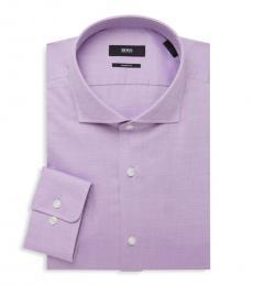 Hugo Boss Purple Sharp-Fit Dress Shirt