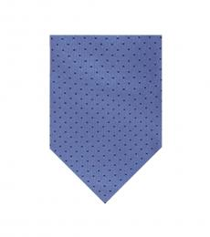 Michael Kors Blue Aaron Dotted Silk Tie