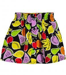 Stella McCartney Little Girls Black Fruit Graphic Skirt