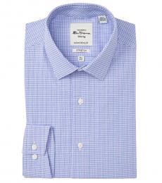 Ben Sherman Blue Tailored Skinny Fit Dress Shirt