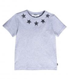 Givenchy Boys Grey Stars T-Shirt