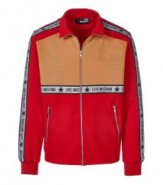 Love Moschino Red Logo Colorblock Jacket