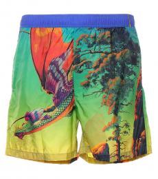 Mario Valentino Multicolor Dragon At Dawn Shorts