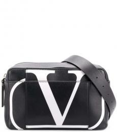 Valentino Garavani Black Vlogo Large Crossbody