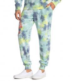 True Religion Green Wate Kinda Wild Tie-Dye Joggers