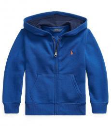 Ralph Lauren Little Boys Sistine Blue Fleece Hoodie