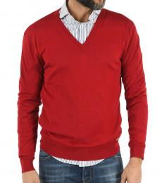Dsquared2 Red V-Neck Sweater