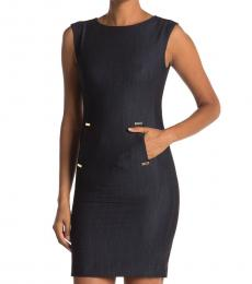 Calvin Klein Blue Denim Sheath Dress
