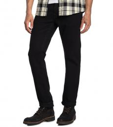 True Religion Black Rocco Relaxed Skinny Jeanss