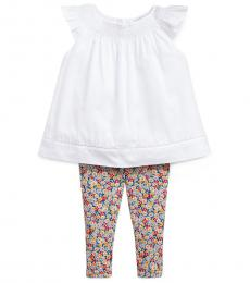 Ralph Lauren 2 Piece Top/Leggings Set (Baby Girls)