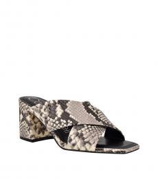 Black Snake Isha Slip-On Heels