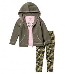 Juicy Couture 3 Piece Hoodie/T-Shirt/Leggings Set (Little Girls)