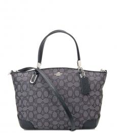 Black Smoke Kelsey Large Satchel