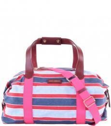 Dolce & Gabbana Multicolor Striped Large Duffle Bag