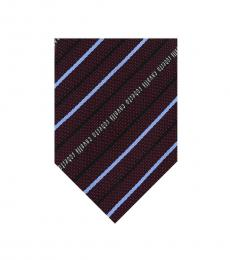 Burgundy Regimental Stripe Tie