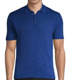 Roberto Cavalli Bluette Short-Sleeve Cotton Polo