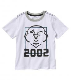 True Religion Little Boys White Wink Buddha T-Shirt
