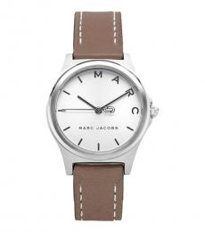 Marc Jacobs Brown White Dial Watch