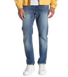 Blue Geno No Flap Slim Leg Jeans