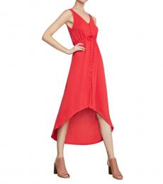 BCBGMaxazria Scarlet High-Low Button-Front Dress