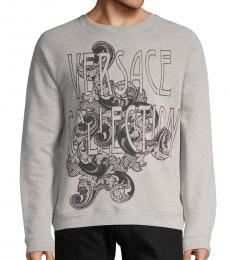 Versace Collection Grey Logo Embroidered Jacket