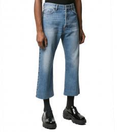 Balenciaga Blue Classic Cropped Jeans