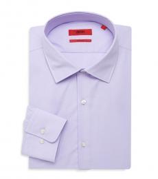 Hugo Boss Light Purple Sharp-Fit Dress Shirt
